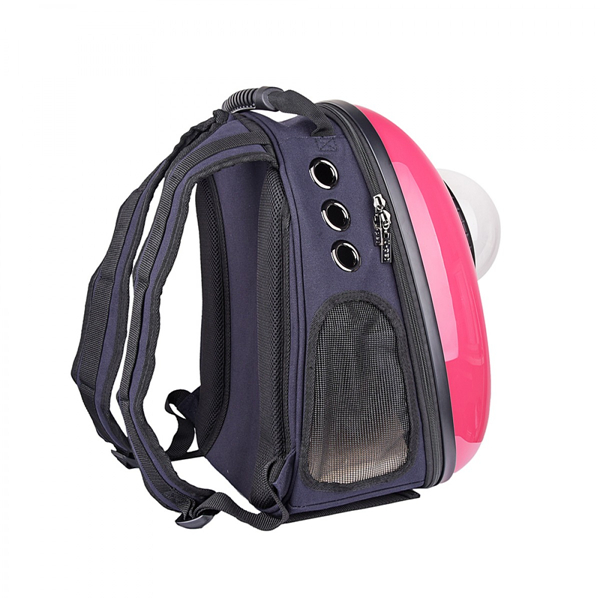 Cute Middle Sized Rose Plastic Breathable Cat Dog Carrier