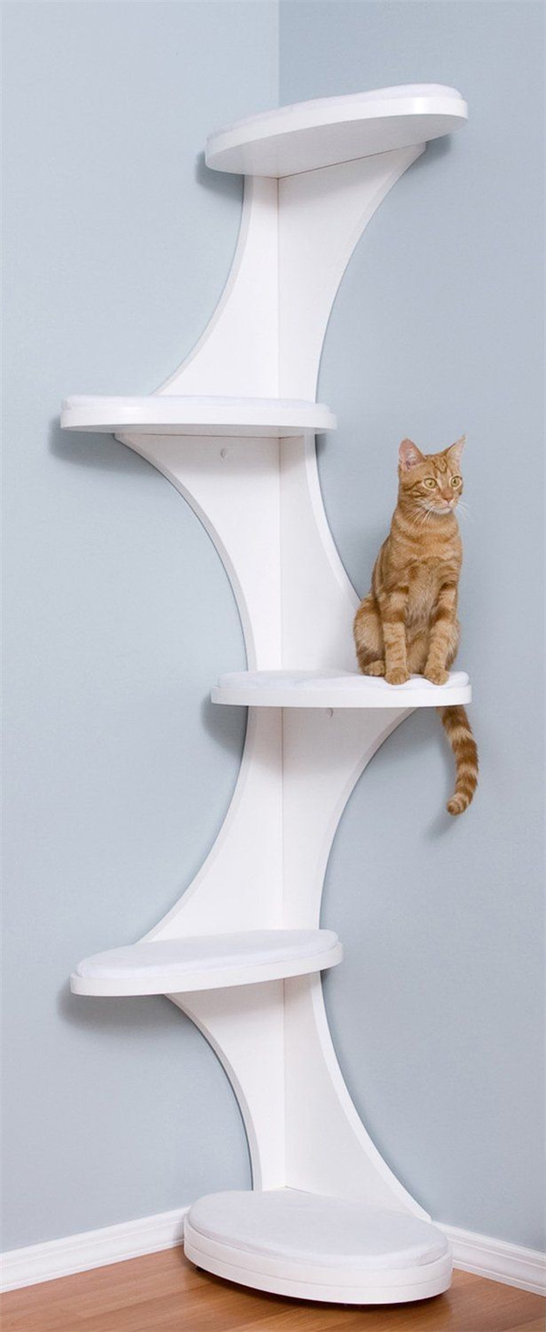 Modern and elegant corner cat tree