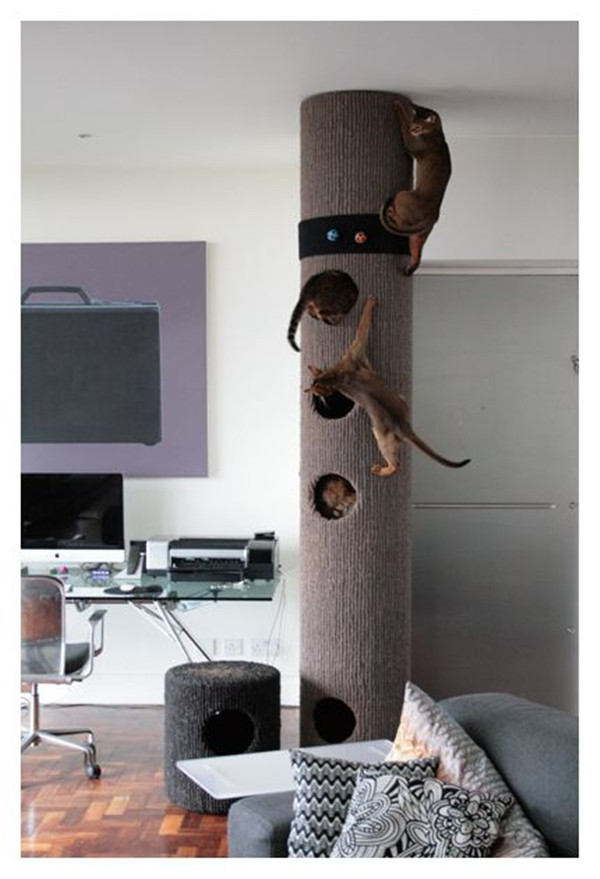 Modern floor to ceiling cat tree