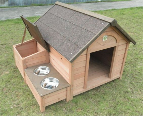 outdoor wooden pet dog house