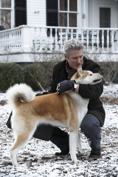 Richard Gere With An Akita From The Movie Hachiko
