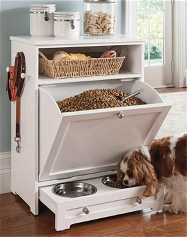 Creative pet feeder station Enjoy the convenience of food
