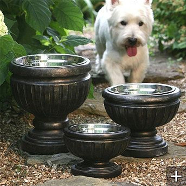 Put Dog Bowls In Planters For A Nicer Look On The Patio
