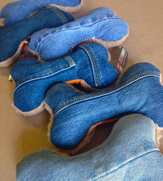 DENIM DOG TOYS $15.00 via burlyshirts