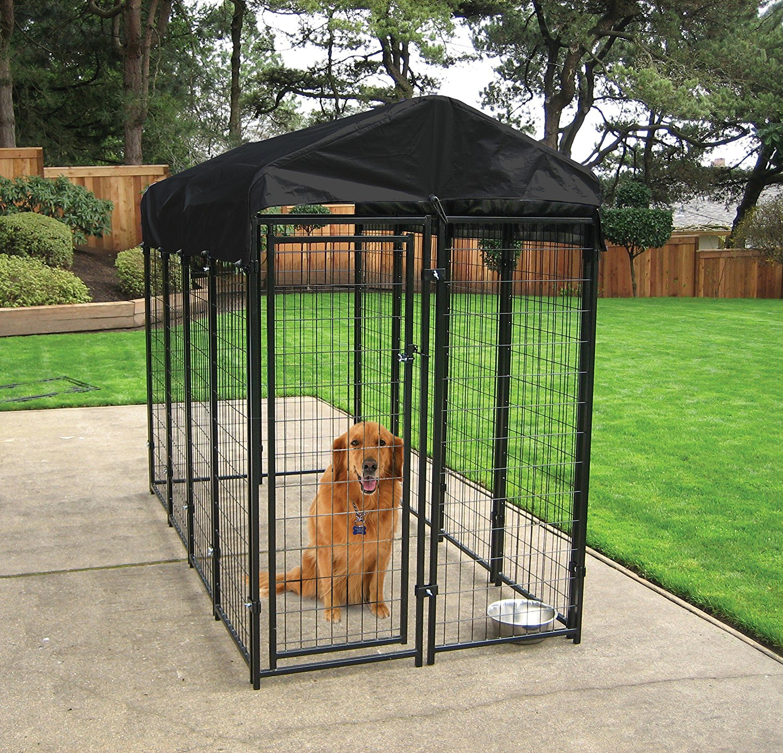 20-best-outdoor-dog-kennel-ideas-4 | fallinpets