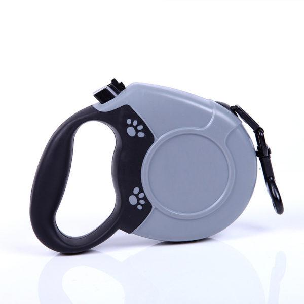 heavy-duty-retractable-dog-leash-with-anti-slip-handle-gray