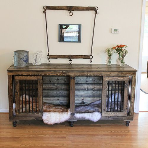 Wooden Dog Kennels Built For One And Two Dogs Indoor Use Check Out Our Designer Crate Furniture Great Dane Kennels3